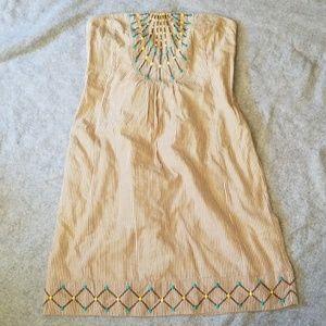 Anthropologie Maeve Strapless Dress Size 6